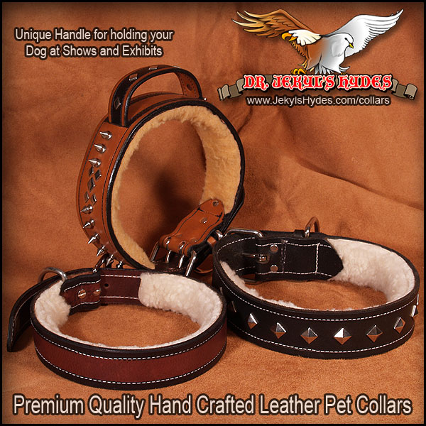 Dr Jekyls Hydes Hand Crafted Leather Pet Collars